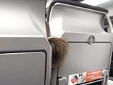 前の座席の ひょっこりテイル。
